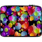Snoogg Colorful Bubbles 2606 12 To 12.6 Inch Laptop Netbook Notebook Slipcase Sleeve
