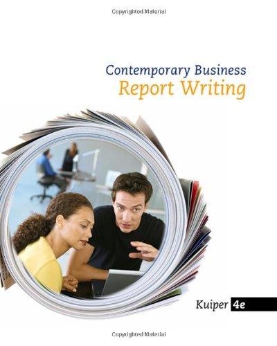 pdf report writing
