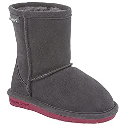 Bearpaw Emma 608Y Kids Boots,Charcoal/Pomberry,1