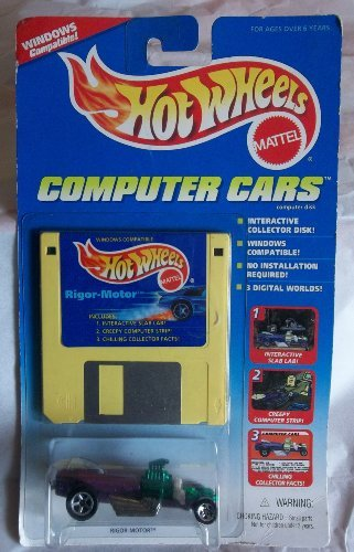 HOT WHEELS COMPUTER CARS - RIGOR-MOTOR - 1