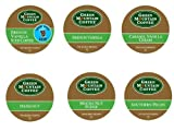 18 Pack Variety of K-cup Coffee for Keurig Brewers - Green Mountain Coffee French Vanilla, Caramel Vanilla Cream, Mocha Nut Fudge, Southern Pecan, Hazelnut, French Vanilla Iced Coffee