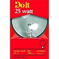 GE Private Label17849Do it Decorative Globe Bulb-25W CLR 3-1/8GLOBE BULB