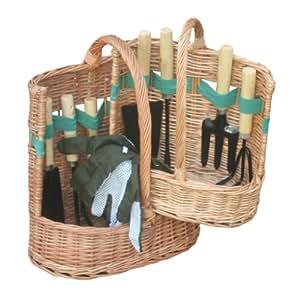 Garden tool basket gift set set of 2 for Gardening tools gift basket