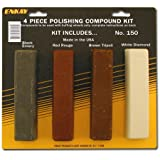 Enkay 150 Carded Polishing Compound Kit, 4 Piece (Tamaño: 1-Pack)