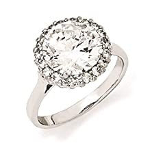 buy Cheryl M - 925 Sterling Silver Clear Cz Fancy Wedding Engagement Ring Size 7