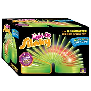 Poof-Slinky 128 Original Plastic Light-Up With Illuminating Lights - Alive In Your Child's Hands Jouets, Jeux, Enfant, Peu, Nourrisson