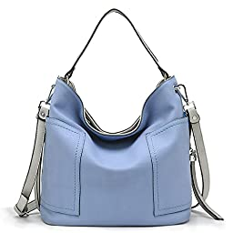 Tosca Stitch Side Pocket Hobo Handbag (Lilac)