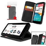 Orzly� - Multi-Function Wallet Case for LG NEXUS 5 - BLACK Leather Effect Wallet Style Phone Case with Intergrated Stand and Built-In Auto Sleep / Wake Sensor Functionality designed exclusively for the GOOGLE NEXUS 5 SmartPhone ( 2013 Model )