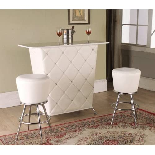 3pcs Bar Table Set In White Color W Two