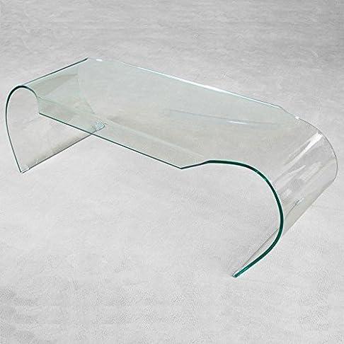 GROUP DESIGN tavolino Heart con struttura realizzata in vetro trasparente CT009
