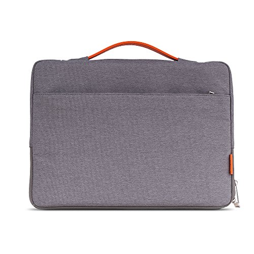 Moko 13-13.5 pollici Custodia Sleeve Impermeabile, Borsa Cartella di Nylon per Notebook/ laptop Apple MacBook Air, MacBook Pro 13.3 pollici, Microsoft Surface Book 13.5 pollici, Grigio Scuro