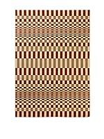 Tapis a Porter Alfombra Veranda Burdeos/Beige 120 x 170 cm