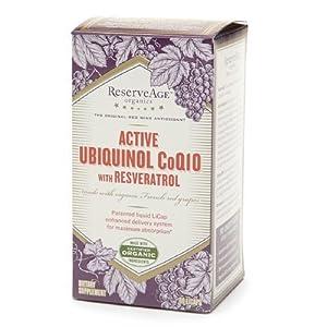 ReserveAge Organics Active Ubiquinol CoQ10 with Resveratrol LiCaps 60 licaps