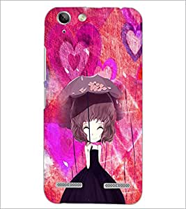 PrintDhaba Umbrella Girl D-4661 Back Case Cover for LENOVO LEMON 3 (Multi-Coloured)