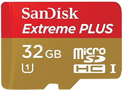 SanDisk Extreme Plus 32 Go Carte mémoire microSDHC avec adaptateur Classe 10 UHS-I (U1)  SDSDQX-032G-U46A