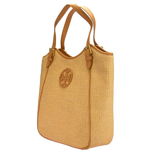 e46ded0798f Tory Burch Straw Small Slouchy Logo Tote - Visuall.co
