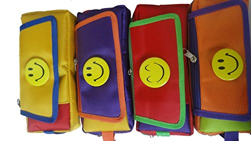 Pranshi Birthday Return Gift Smiley Smiley with three chains and a Flap Art cotton Pencil Boxes