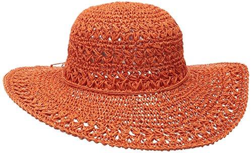scala-womens-big-brim-crocheted-toyo-hat-orange-one-size