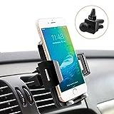 Universal Car Holder, Quntis iPhone Car Holder 360 Rotation Air Vent Phone Holder Mount Cradle for iPhone X 8 8 Plus 7 7 Plus 6s 6 Plus 6 5s 5 SE Samsung Galaxy S6 S5 S4 LG Sony ( Elegant Black)
