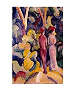 Especial Arte Lienzo Coppie in foresta - Macke August Multicolor