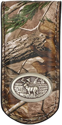 Mens Western Money Clip Badger Camo Deer Hunter Concho - BMC304rw