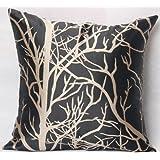 ElleWeiDeco Modern Black Throw Pillow Cover