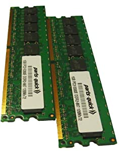 2GB 2 X 1GB PC2-5300 667MHz 240 pin DDR2 SDRAM ECC DIMM Desktop Server Memory for Dell PowerEdge SC430 (PARTS-QUICK BRAND)