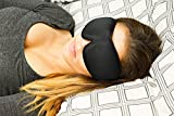 TOP RATED Sleep Mask with Earplugs PREMIUM Quality Contoured Eye Mask - Lightweight With Adjustable Velcro Strap - Blocks The Light Completely - Best For Travel, Insomnia or Quiet Night Sleep