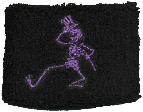 Licenses Products Grateful Dead Dancing Purple Skellys on Black Wrist Band