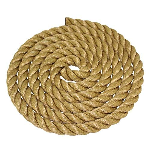 Arborist Marine Commercial Chemical 1//4 inch Moisture Twisted 3 Strand Line with Polyolefin Core UV DIY SGT KNOTS Poly Dacron Rope 100 feet Abrasion /& Weather Resistant