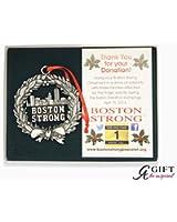 Boston Strong Silver Ornament