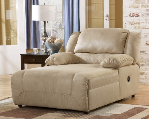 Contemporary Press Back Khaki Chaise