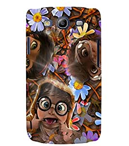 Fuson 3D Printed Funny Faces Designer back case cover for Samsung Galaxy S3 Neo - D4284