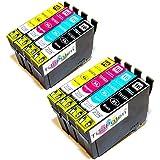 8x Epson Workforce WF 2540 WF kompatible XL Druckerpatronen - 2xSchwarz-2xCyan-2xMagenta-2xGelb - Patrone MIT CHIP !!!