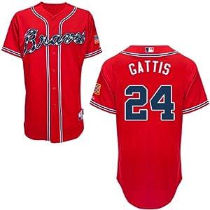 Evan Gattis Atlanta Braves Alternate Red Replica Jersey by Majestic by Majestic
