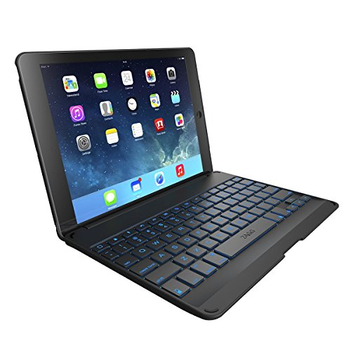 ZAGG Folio Case with Backlit Bluetooth Keyboard  for iPad Air - Black (Ipad Air 2 Case With Keyboard compare prices)