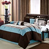 Chic Home Mustang 12-Piece Bed in a Bag, Queen, Brown