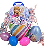 Disneys Frozen Easter Basket with Plastic and Character Candy Filled Eggs