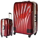 [BB-Monsters] ビービーモンスターズ ストッパー付 スーツケース TSAロック搭載 フレームタイプ 旅行カバン 鳳凰 (19、小型、SS, ワインレッド)