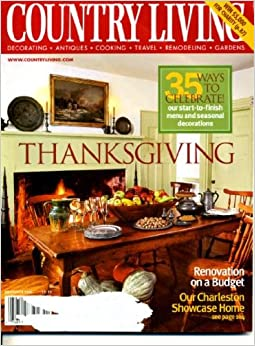 Country Living November 2002 Renovation On A Budget 35 Ways To Celebrate Tha