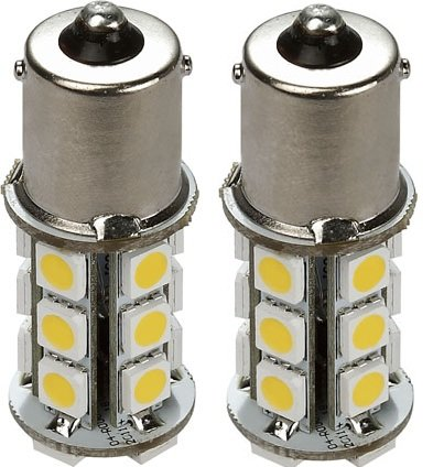 2 X Gold Stars 11568302-02 Led Replacement Bulb 1003 / 1141 / 1156 Base 190 Lums 12V Or 24V Natural White