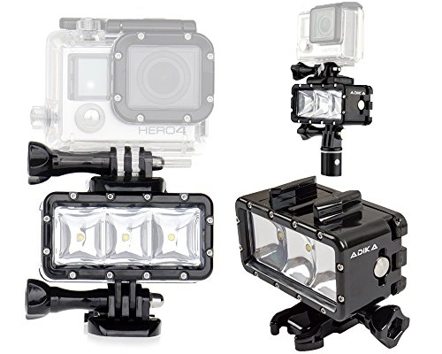 ADIKA-40m-Waterproof-Light-Wide-Angle-Light-LED-underwater-light-for-Gopro-Light-Spot-Flood-Light-for-Gopro-Lighting-for-Gopro-Dive-Light-for-GoPro-Hero-4-Hero-3-Hero-3-SJCAM-SJ4000-SJ5000-Xiaomi-Yi