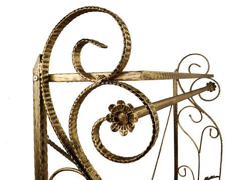 Brand New Free Standing Decorative Antique Bronze Iron Garment Coat Rack (Y009C) 2