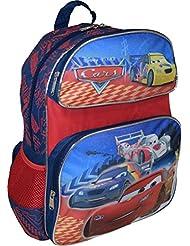 """Disney Pixar Cars Deluxe 3D Embossed 14"""" School Backpack"""