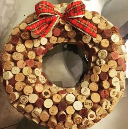 Wine Lover's Handmade Wine Bottle Cork Decorative Wreath
