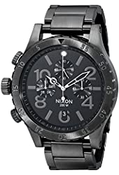 Nixon Men's 48-20 Geo Volt Stainless Steel Chronograph Watch