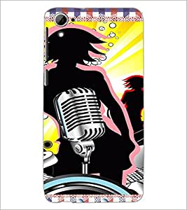 PrintDhaba Music D-4216 Back Case Cover for HTC DESIRE 826 (Multi-Coloured)