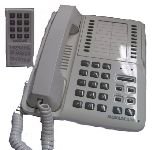 Audioline 920 Dual Recording Answer Machine Phone System With 20 Memory Telephone picture