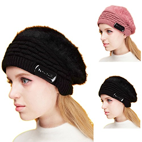DEALPEAK-Best-Winter-Gift-Knit-Hands-free-Bluetooth-Music-Beanie-Hat-Headset-with-Mic