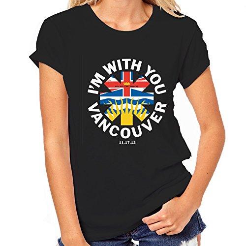 Red Hot Chili Peppers-Maglietta Vancouver, Canada, Maglietta da donna nero XX-Large